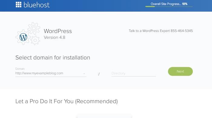 Wordpress installation on Domain